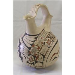 Mata Ortiz Polychrome Wedding Vase by Andres Vega