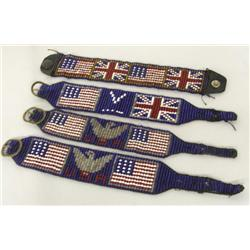 4 WWII Era Beaded Indian Bracelets