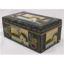 1930s-1950s Hand Painted Wood Box