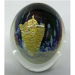 1989 Signed Art Glass Paperweight