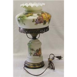Antique Hand Painted Boudoir Lamp