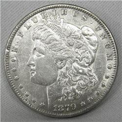 1879 Morgan Silver Dollar AU Condition