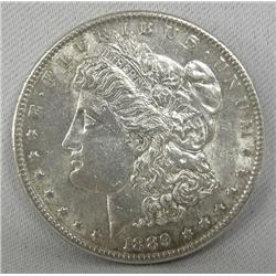 1889 Morgan Silver Dollar AU Condition
