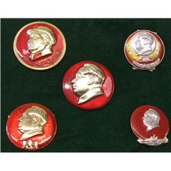 5 1990s Chairman MAO Pins