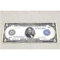 1914 Series 5 Dollar Federal Reserve Note