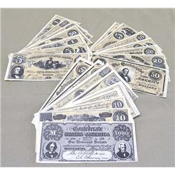26 Confederate Reproduction Currency