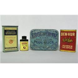 4 Vintage Advertising Tins