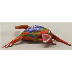 Oaxacan Alebrije Wood Carved & Painted Lizard