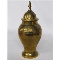 Indian Hammered Brass Urn