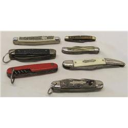 Collection of 7 Pocketknives