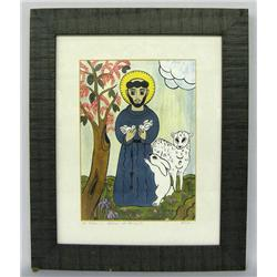 Original Artwork of ''St Francis'' by Perea