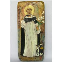 St. Dominic Wood Retablo by Elen Rehn