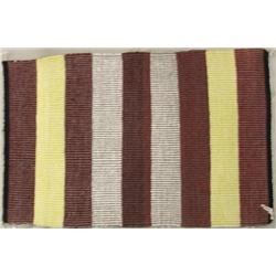 Navajo Weaving Rug, Striped With Raised Outline
