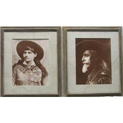 2 Photographic Prints Bill Cody and Calamity Jane