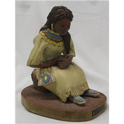 Clay Sculpture by Dorris Harrison, ''New Moccasins''