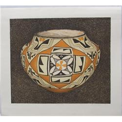 Signed and Numbered Acoma Print by Baker