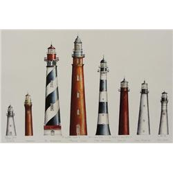 1999 Signed Print of Lighthouses