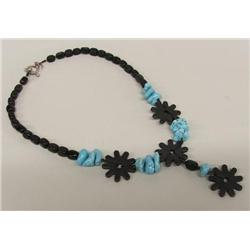 Western Turquoise Onyx Ironspur Necklace