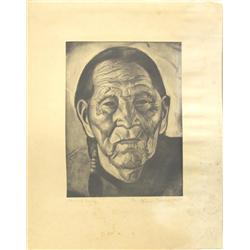1955 Taos New Mexico Print by Herman Rednick