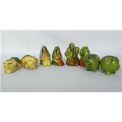 Collection of 4 Mexican Salt and Pepper Shakers