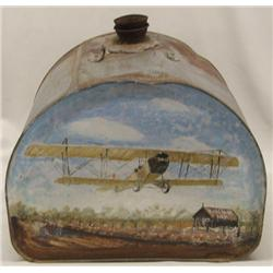 Handpainted Antique Gas Can by New Mexico Artist Hagerlin