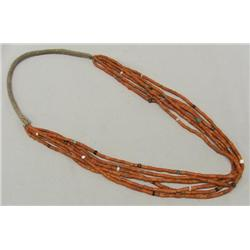 1970's Six Strand Coral Necklace