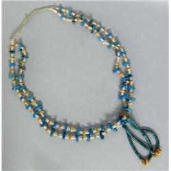 Navajo Turquoise Nugget Necklace With Jocklas