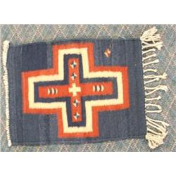Mexican Wool Cross Textile Rug