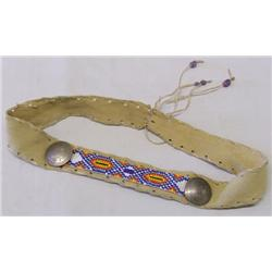 Beaded Leather Headband