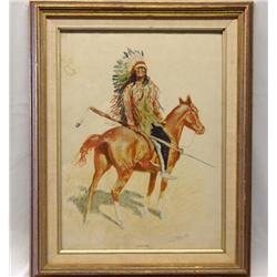 Remington Print A Sioux Chief