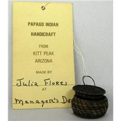 Papago Miniature Lidded Basket by Julia Flores