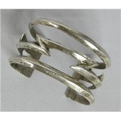 Navajo Sterling Silver Lightening Bolt Bracelet