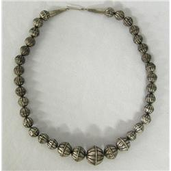 Navajo Graduated Squash Bead Necklace