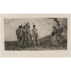 French Photogravure of American Indians