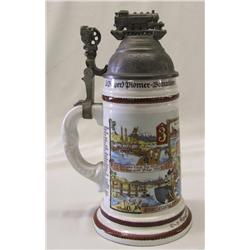 Pioneer Frohndorfer Commemorative Stein with Lithopane