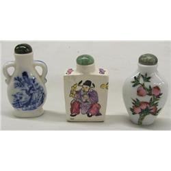 3 Chinese Snuff Bottles