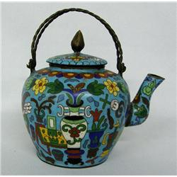 Chinese Cloisonne' Teapot