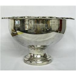 Rio Grande Horse Show Silverplate Trophy Bowl