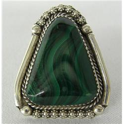 Navajo Silver Malachite Ring