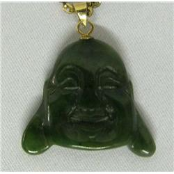 Estate Jade Buddha Head Necklace
