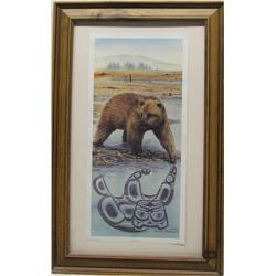 NW Coast Print of Bear by Sue Coleman