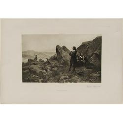 French Fugitive Huguenots Photogravure