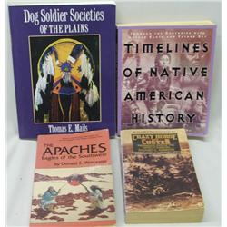 4 Softback Books on Native Americans