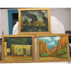 3 New Mexico Original Oil Paintings