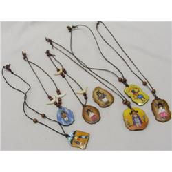 6 Handprinted Reproduction DeGrazia Necklaces