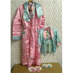 Mother and Child Japanese Silk Pajamas & Slippers