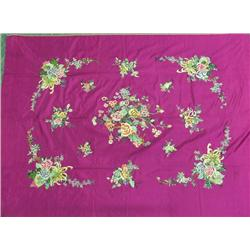 Japanese Embroidered Silk Tablecloth