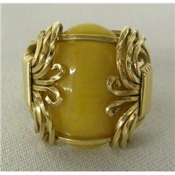 Gold Wire Jasper Ring