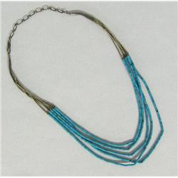 Vintage Silver Turquoise Heishi Choker