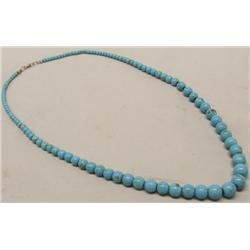 Robin Blue Turquoise Bead Necklace